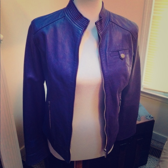 Arden B Jackets & Blazers - Arden B brand  Purple Lamb leather jacket 🧥